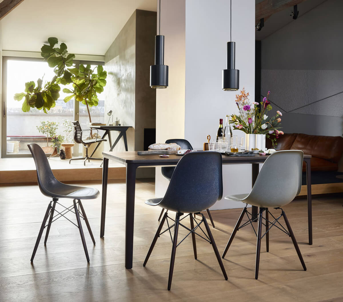 New Vitra Eames Fiberglass DSW chairs