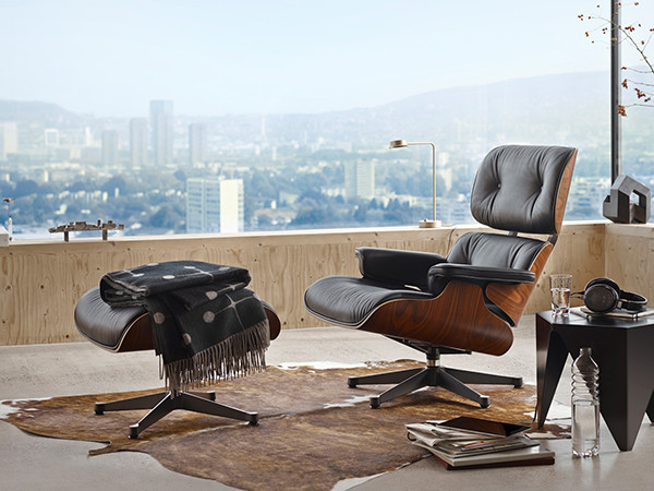 Amazing Buy The Vitra Eames Lounge Chair Ottoman Santos Theyellowbook Wood Chair Design Ideas Theyellowbookinfo
