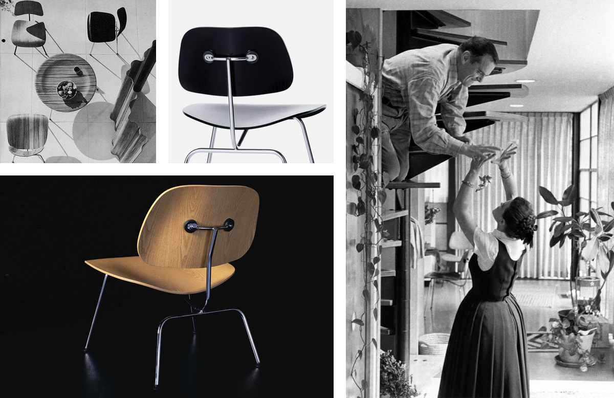 Vitra LCM Lounge Chairs Designed by Charles & Ray Eames