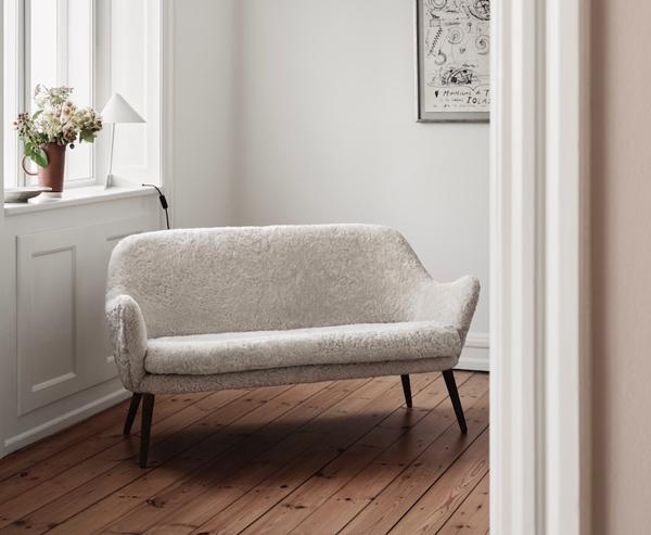 Sheepskin Warm Nordic Dwell 2 Seater Sofa in a home