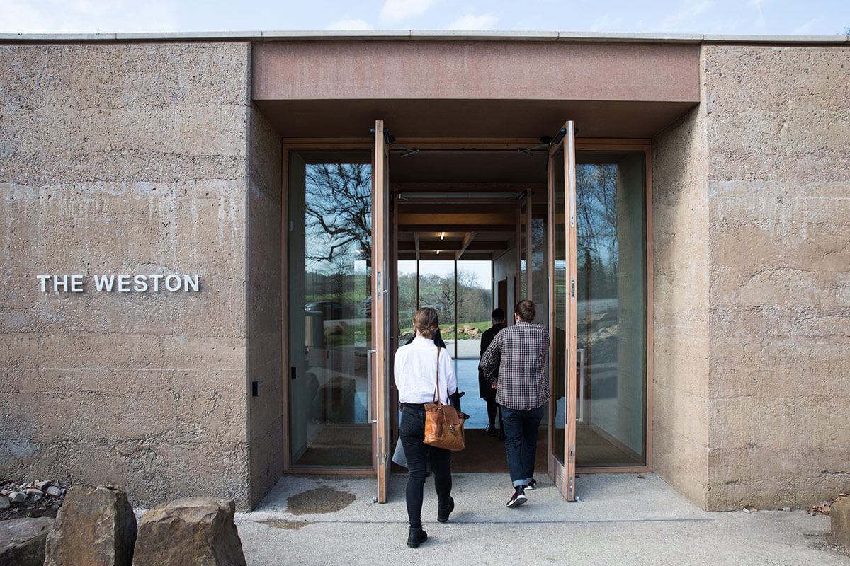 The entrance to The Weston at Yorkshire Sculpture Park