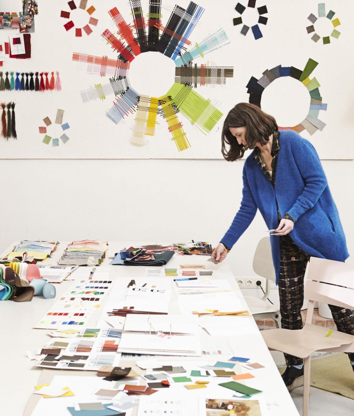 Hella Jongerius at work in her design studio