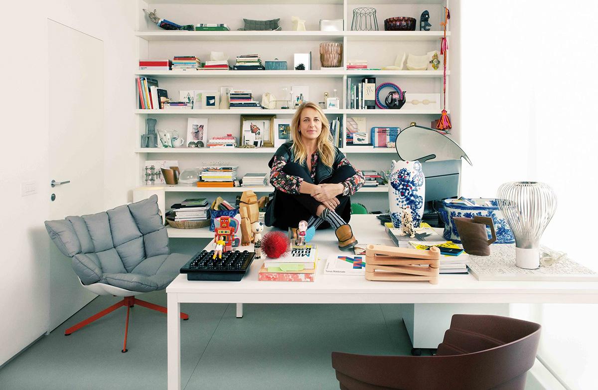 Patricia Urquiola in her design studio