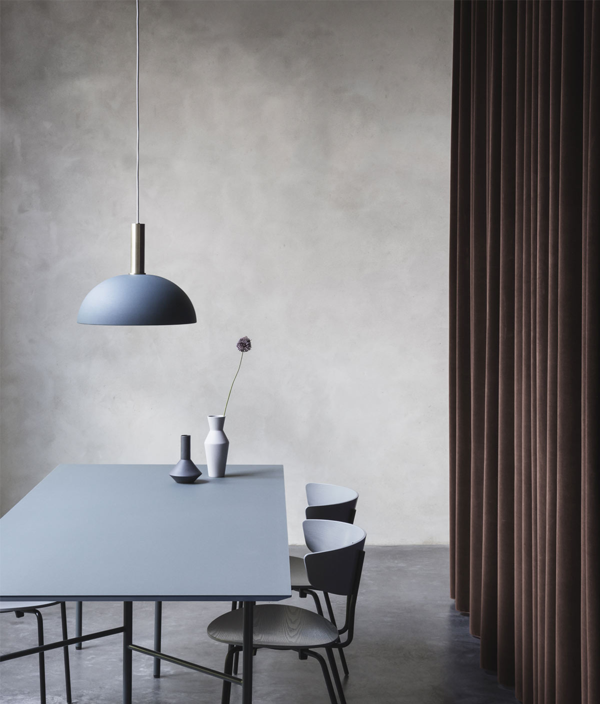 Ferm Living Collect Pendant Light with dome over table setting.jpg