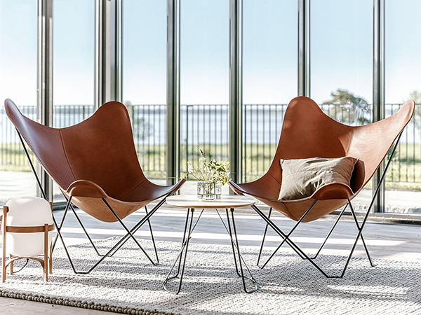 2 Cuero Leather Butterfly Chairs – Pampa Mariposa