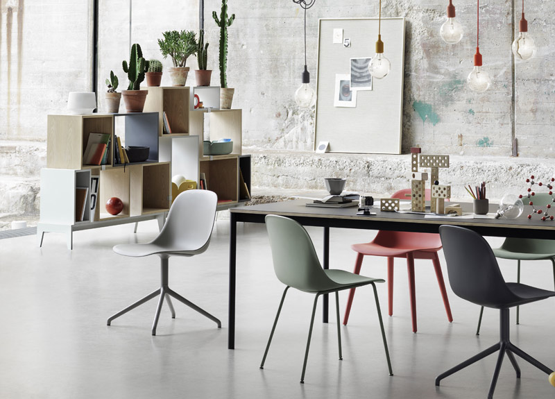 Muuto on design and happiness – Muuto E27 Pendant Light & Muuto Fiber Side Chair Tube Base .jpg