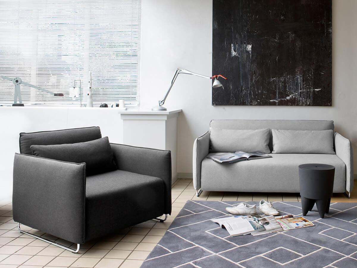 Softline Cord Sofa Beds in Grey Interior
