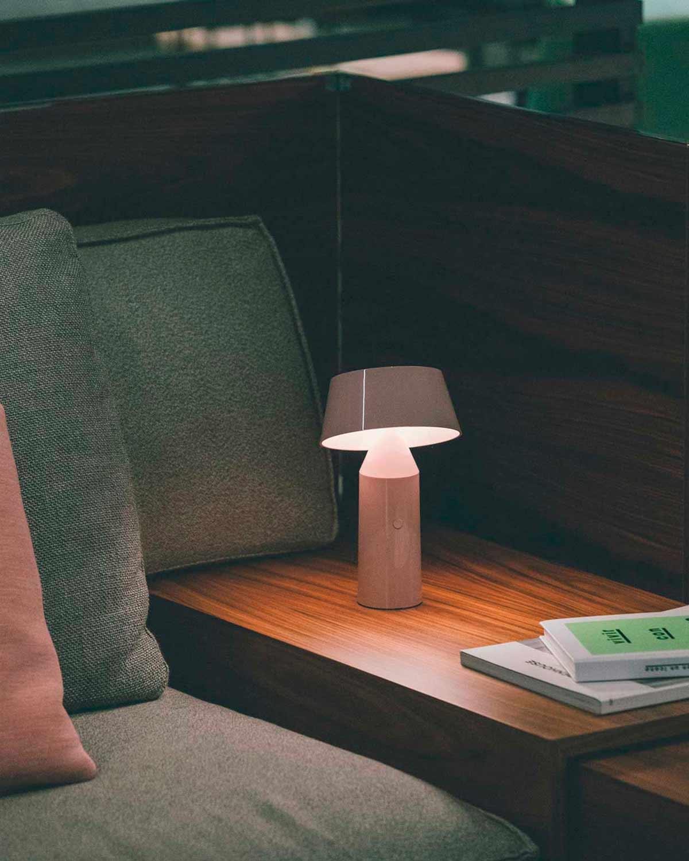 Marset Bicoca Portable Lamp in Pale Pink