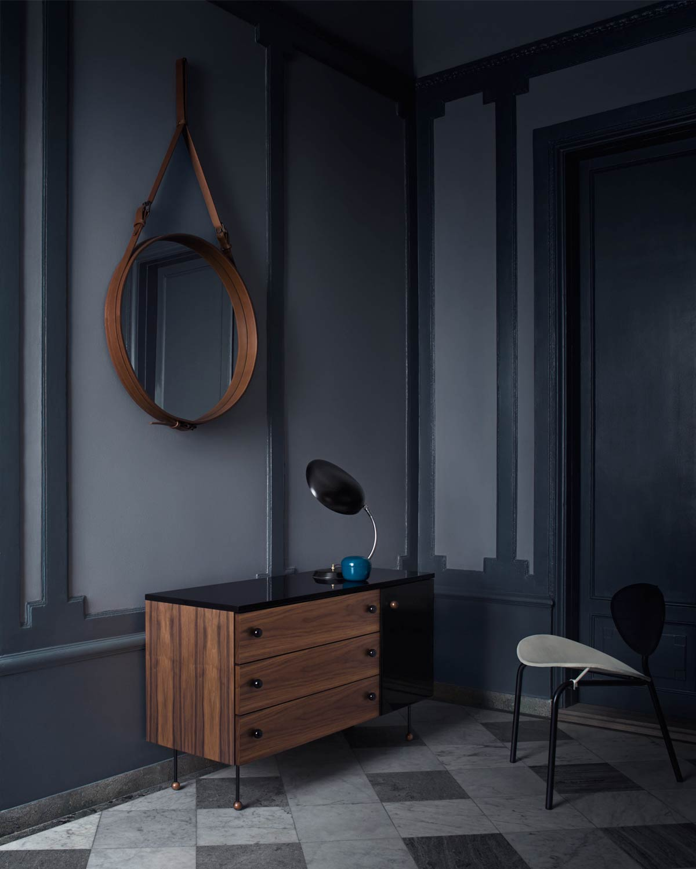 Gubi Adnet Circular Mirror in tan