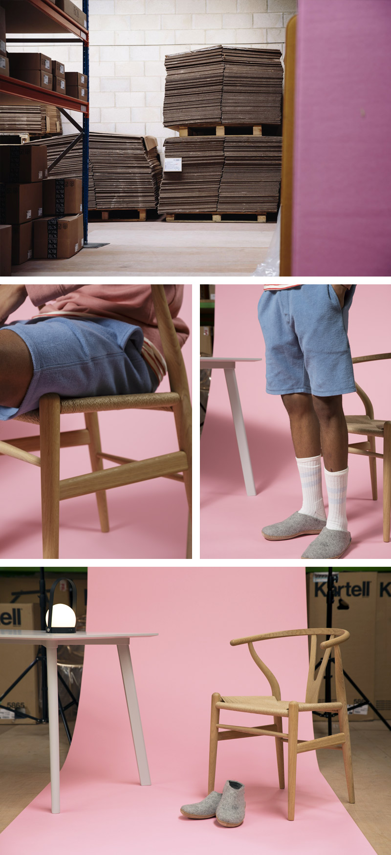 Cut from the Same Cloth: Oi Polloi – Scandi – Menu Carrie LED Table Lamp, Hay Copenhague Deux Dining Table CPH210 & Carl Hansen CH24 Wishbone Chair  .jpg