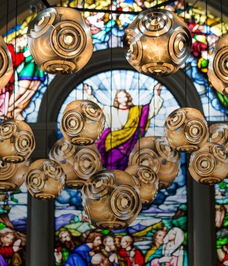 Clerkenwell Design Week Highlights – Tom Dixon Curve Ball Pendant Light