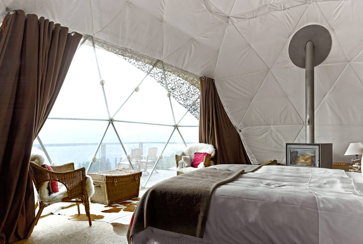 Interior of the dome tents at White Pod, Switzerland.jpg