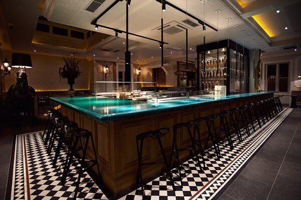 Bar area at Yashin Ocean House Sushi