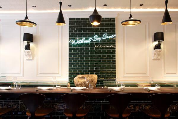 Interior of Yashin Ocean House Sushi & Bar
