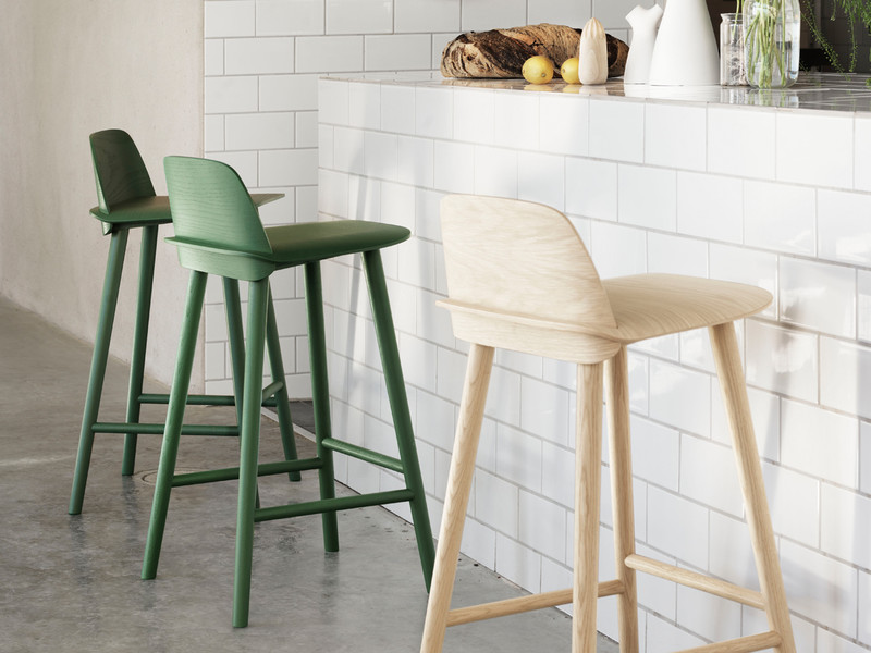 Buy the Muuto Nerd Bar Stool at Nestcouk : Muuto Nerd Bar Stools in green and oak from www.nest.co.uk size 800 x 600 jpeg 105kB