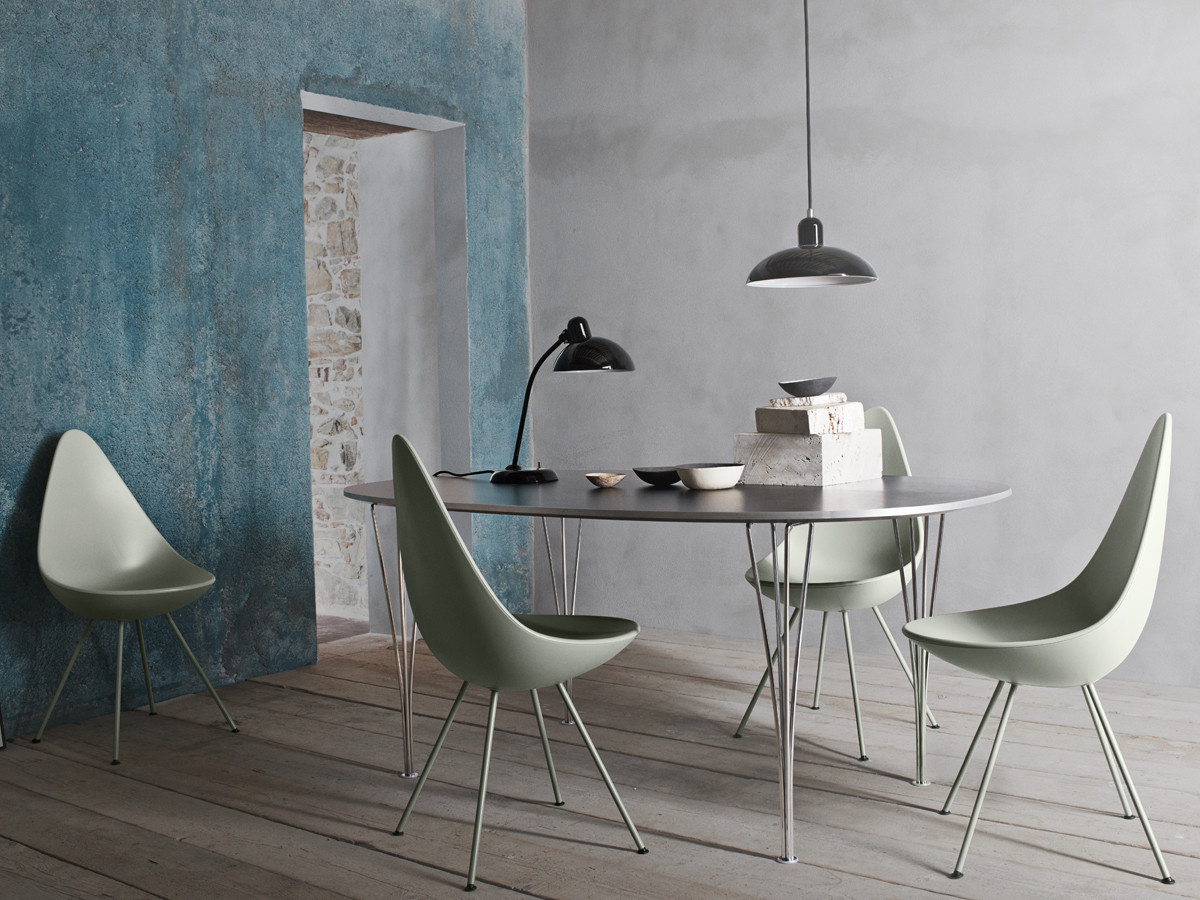 Buy the Fritz Hansen Drop Chair Plastic at Nestcouk