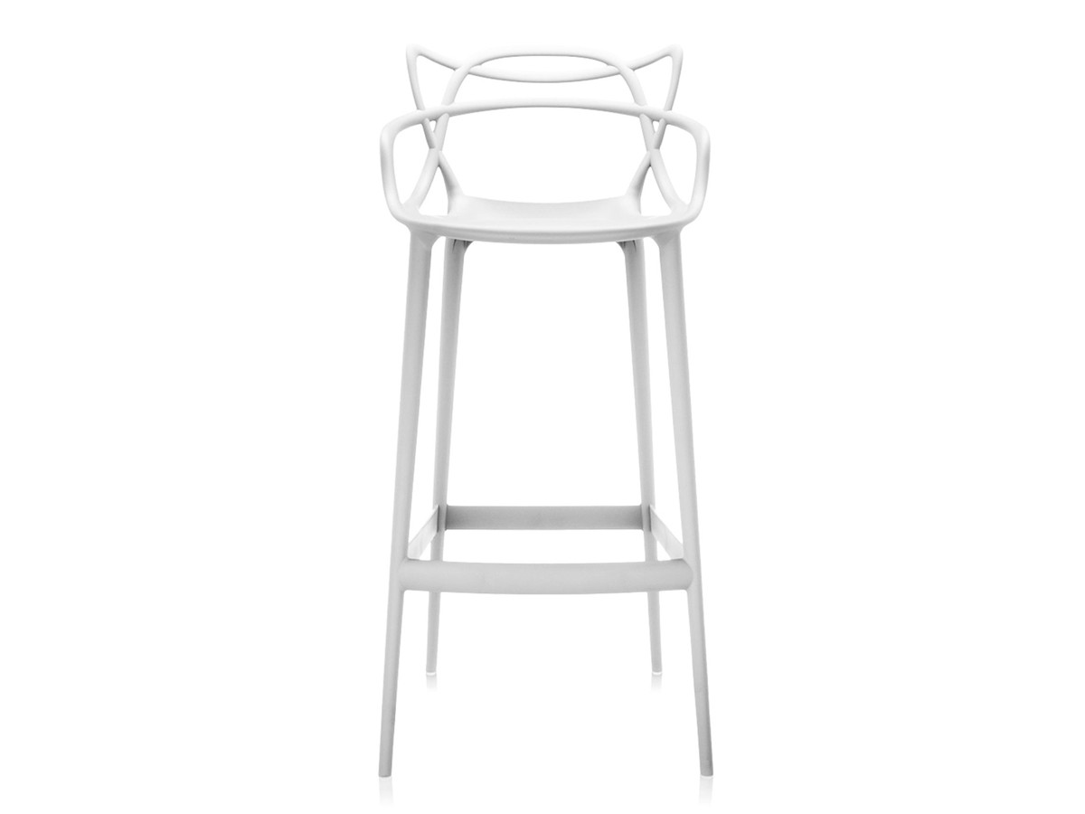 Buy the Kartell Masters Bar Stool White at Nest.co.uk
