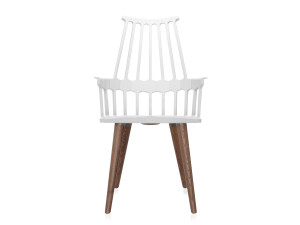 Kartell Comback Chair with Wooden Legs