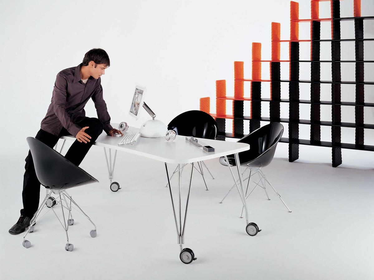 buy the kartell max desk white at nestcouk -  kartell max desk white
