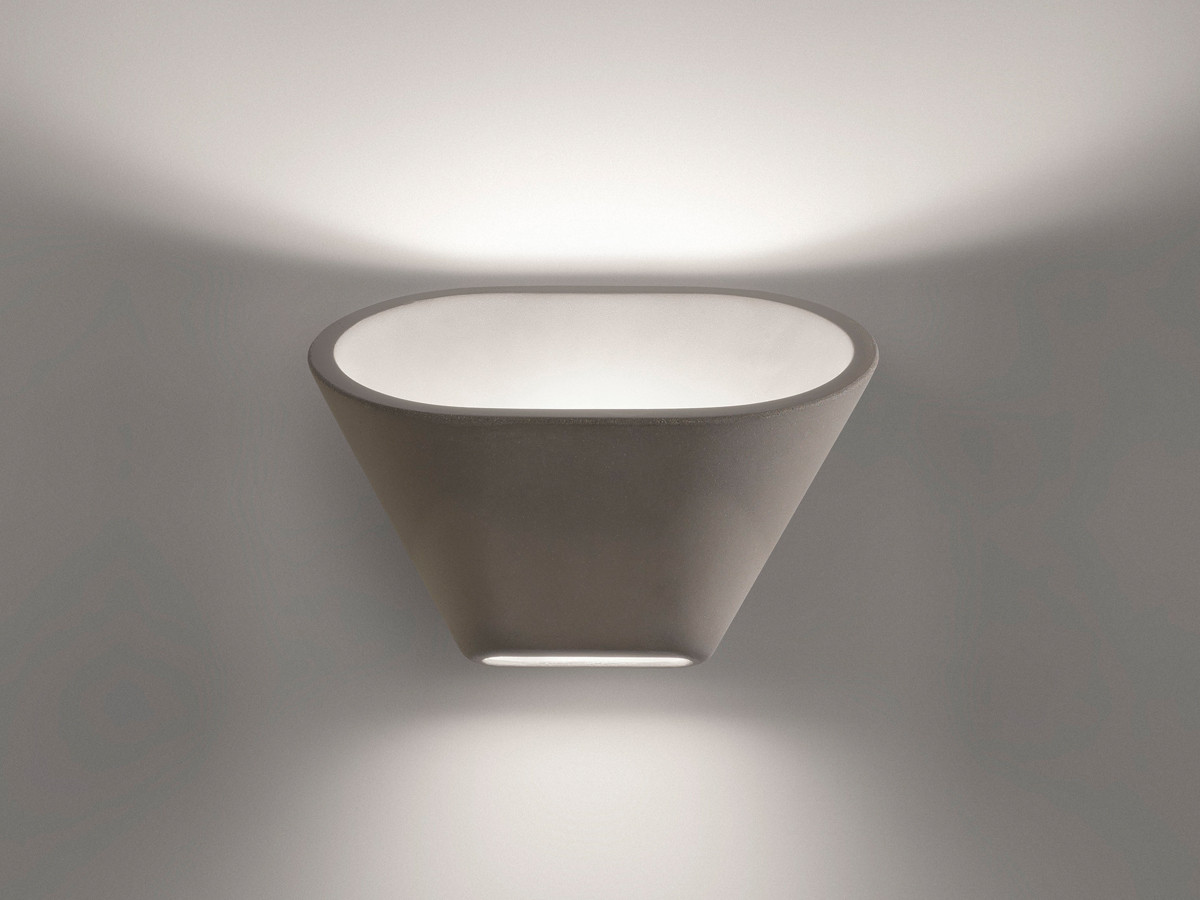 Wall Lamp Hurricane I Light Grey : Buy the Foscarini Aplomb Wall Light Grey at Nest.co.uk