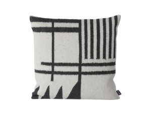 View Ferm Living Kelim Cushion Black Lines