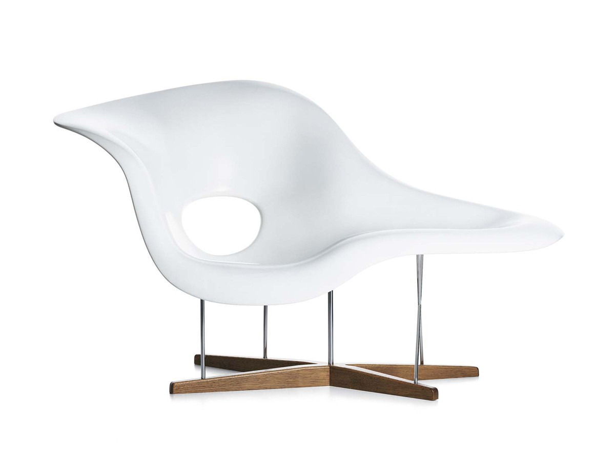 Buy the vitra eames la chaise at for Chaise charles eames tissu