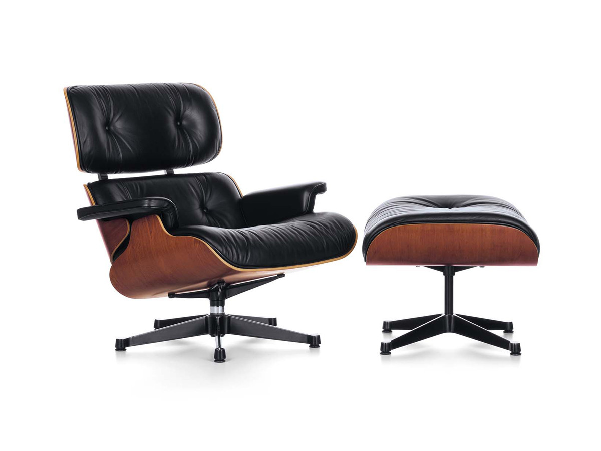Buy the vitra eames lounge chair ottoman at for Eames chair vitra replica