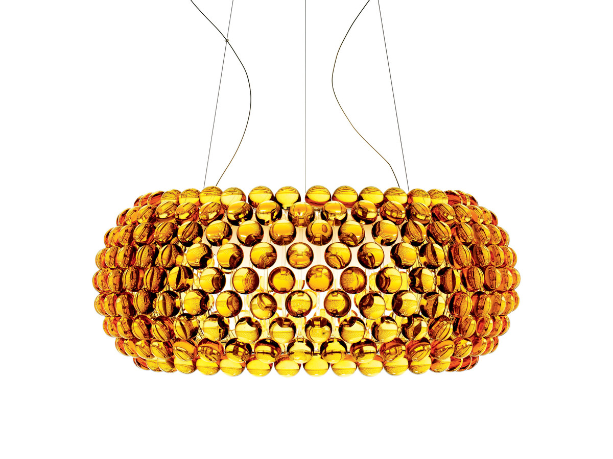 Buy the Foscarini Caboche Suspension Light Gold at Nest.co.uk
