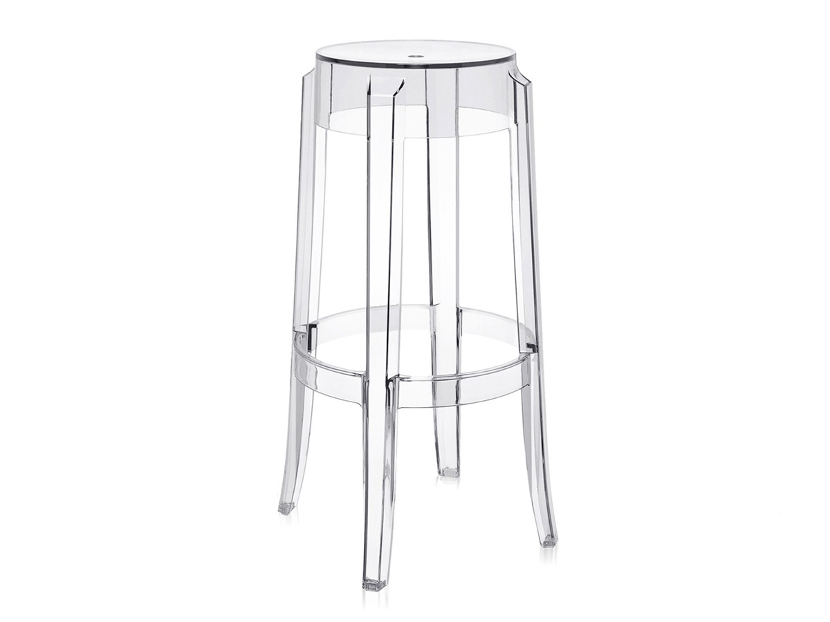 Buy The Kartell Charles Ghost Bar Stool Crystal At Nest Co Uk
