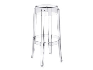 Kartell Charles Ghost Bar Stool Crystal