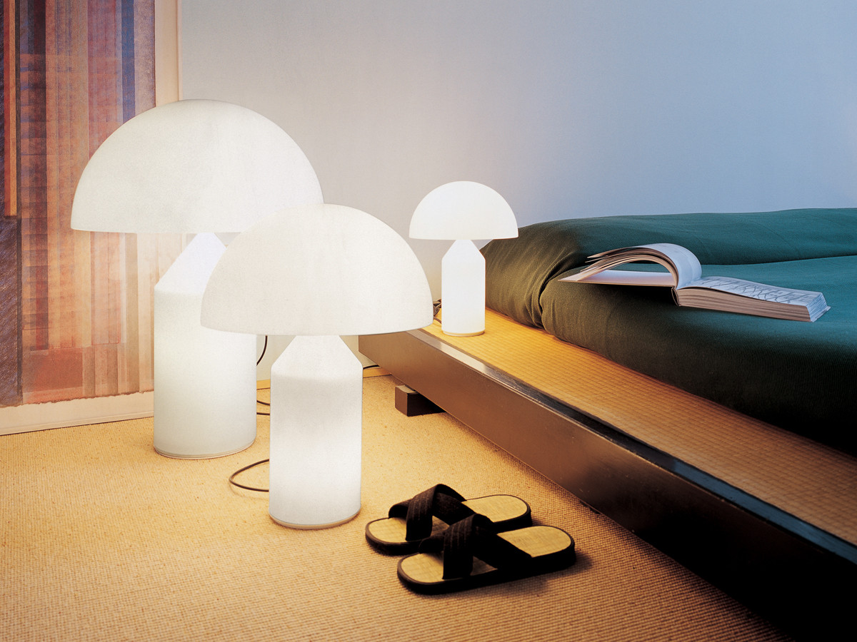 buy the oluce atollo table lamp at. Black Bedroom Furniture Sets. Home Design Ideas