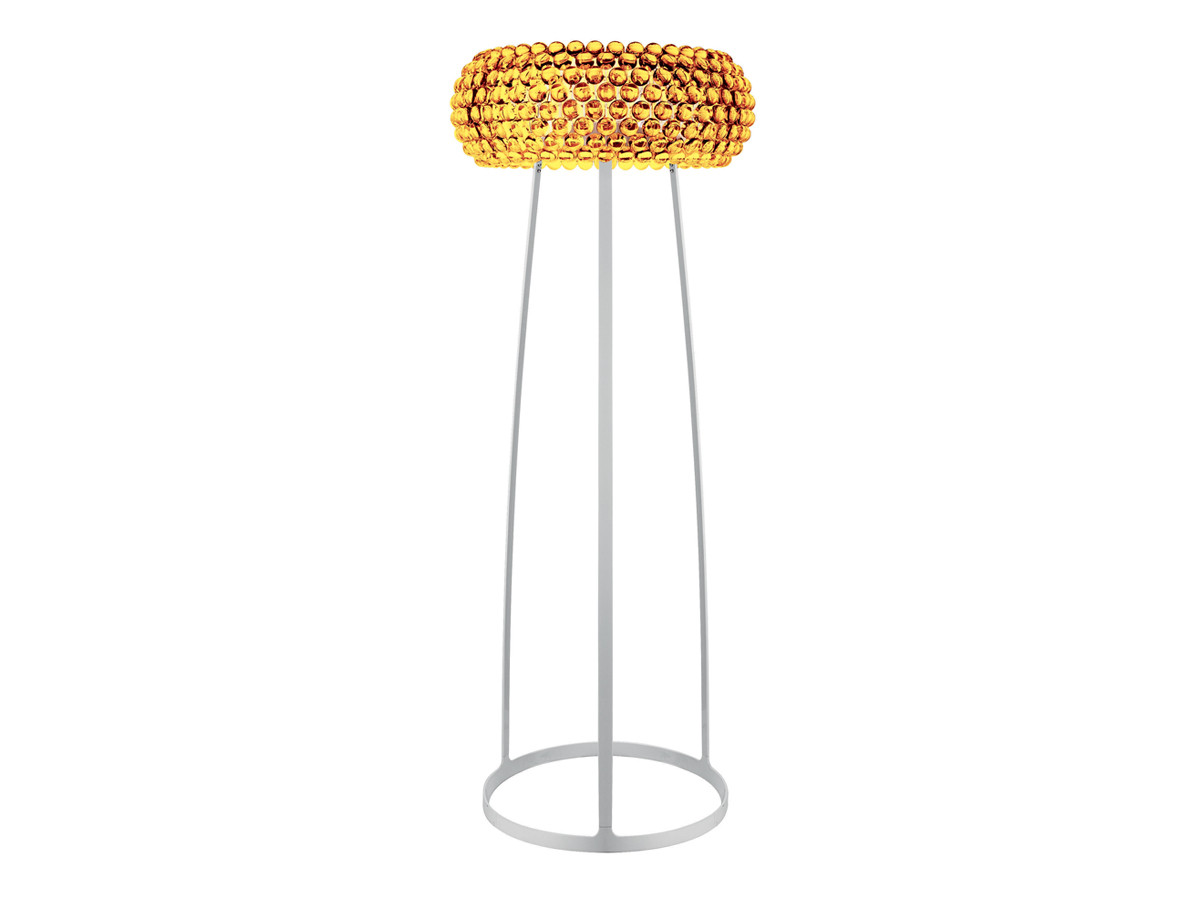 Buy the foscarini caboche floor lamp gold at nestcouk for Gold shell floor lamp