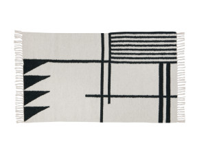Ferm Living Kelim Rug Black Lines Small