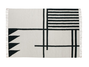 View Ferm Living Kelim Rug Black Lines Large