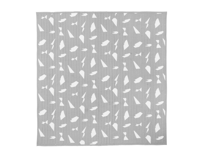 Ferm Living Cut Bed Cover Grey