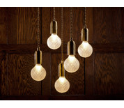 Buy The Lee Broom Crystal Bulb With Pendant Fitting At
