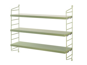 String Pocket Shelving Green