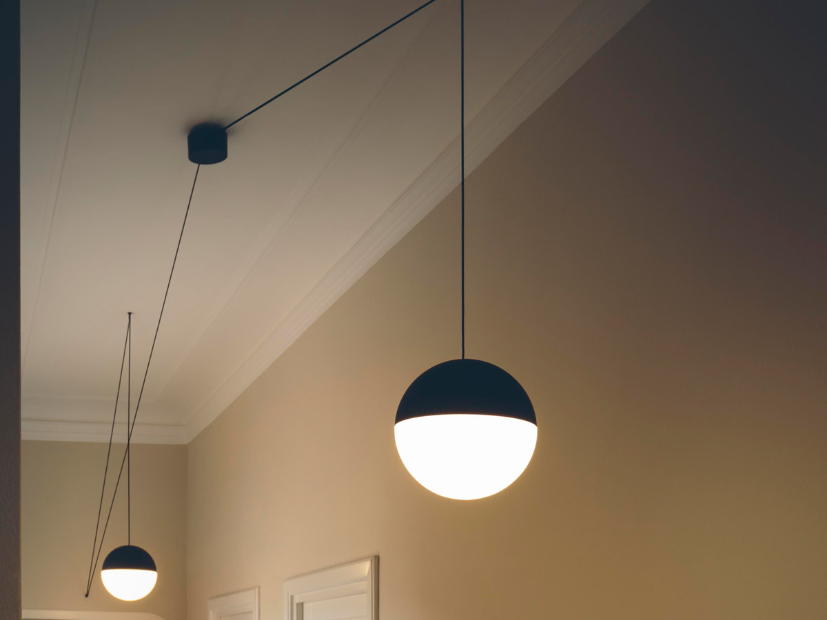buy the flos string light sphere at. Black Bedroom Furniture Sets. Home Design Ideas