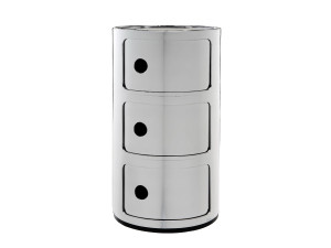 View Kartell Componibili Round Storage Chrome
