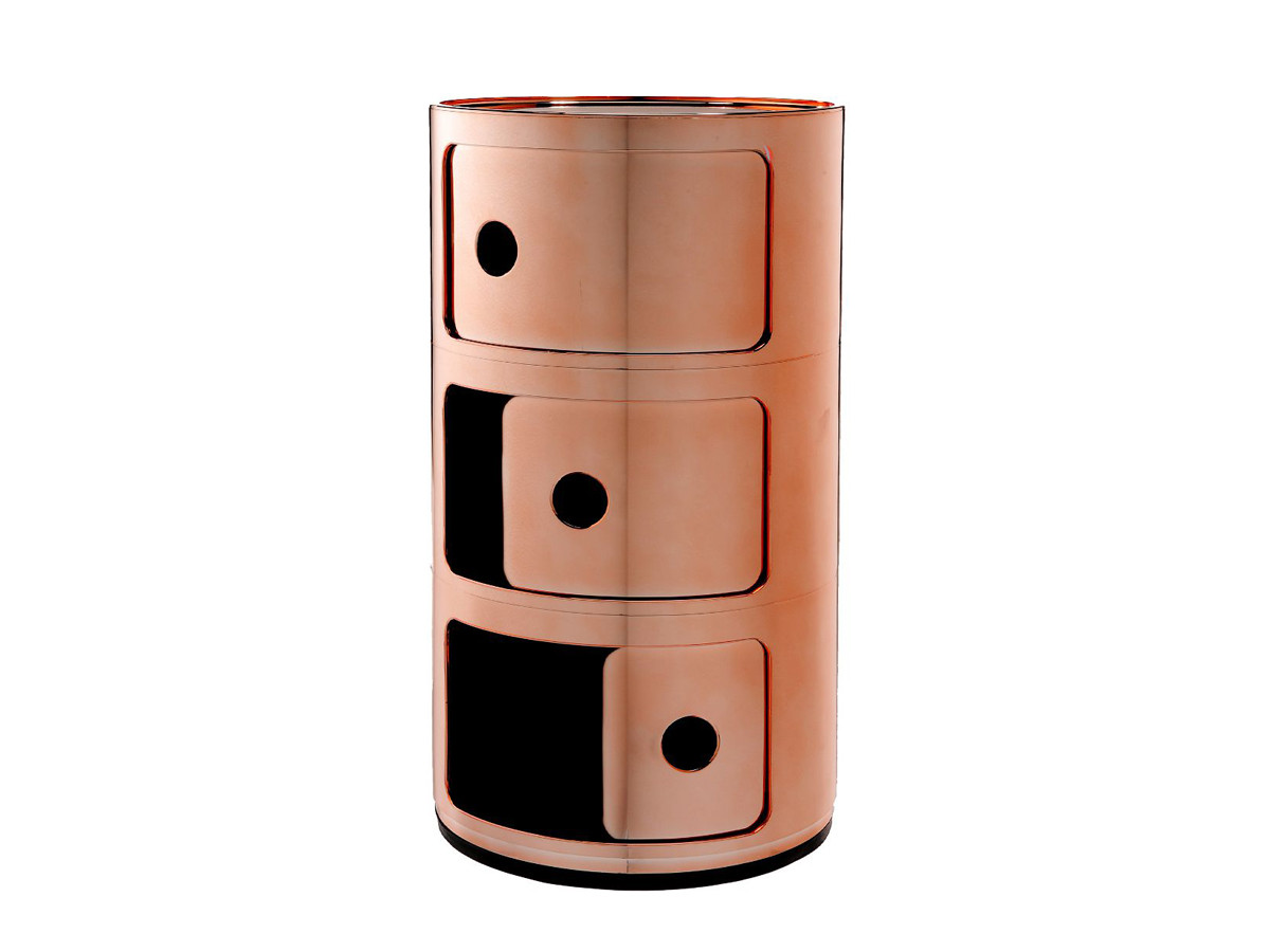 buy the kartell componibili round storage copper at. Black Bedroom Furniture Sets. Home Design Ideas