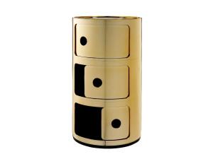 Kartell Componibili Round Storage Gold