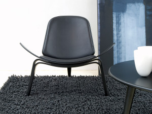 View Carl Hansen CH07 Shell Chair Black Beech