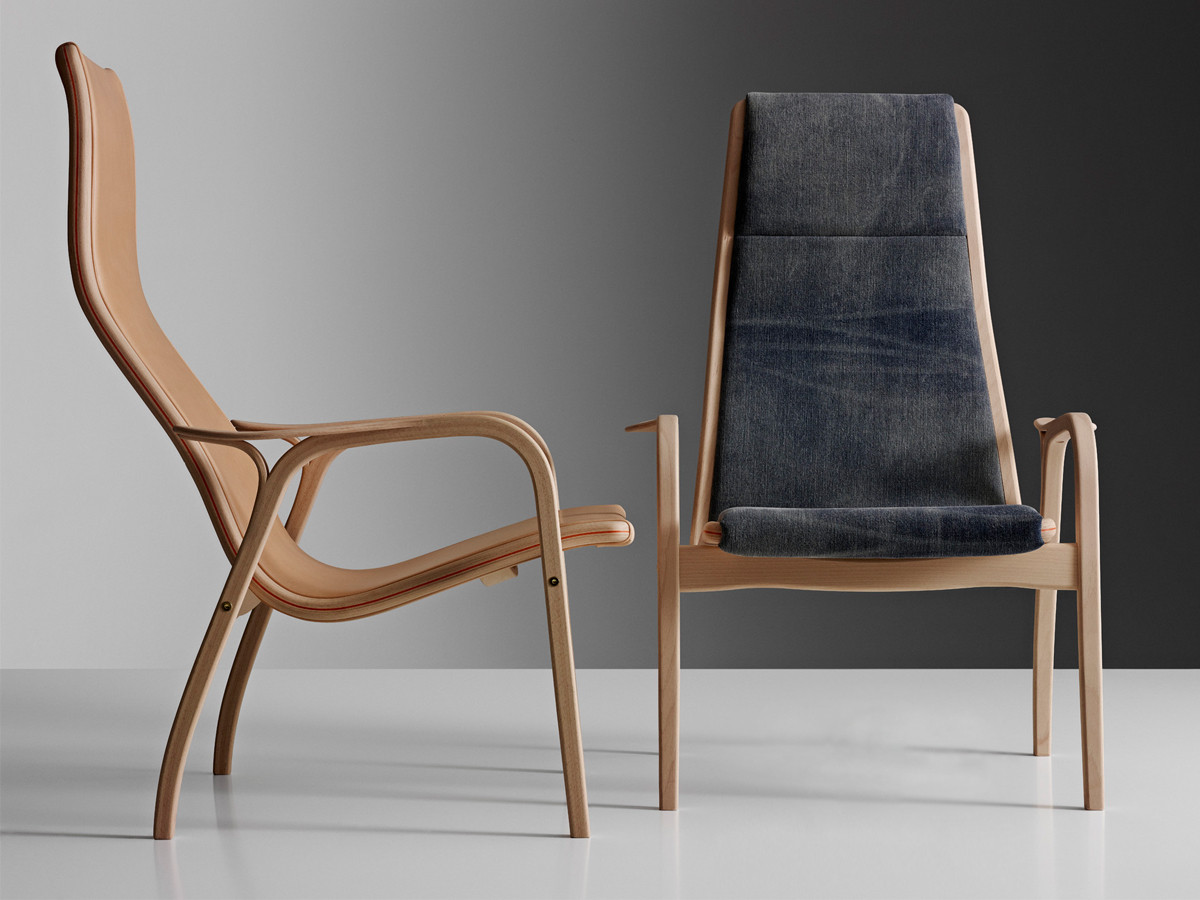 Buy the Swedese Lamino Easy Chair by Nudie Jeans Saddle Leather at Nest c