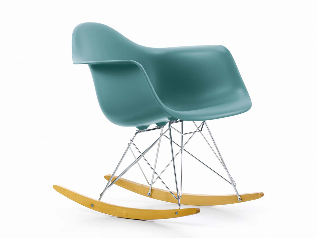 eames rocking chair green. vitra rar eames plastic armchair rocking chair green