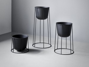 View Menu Wire Plant Pot - Black