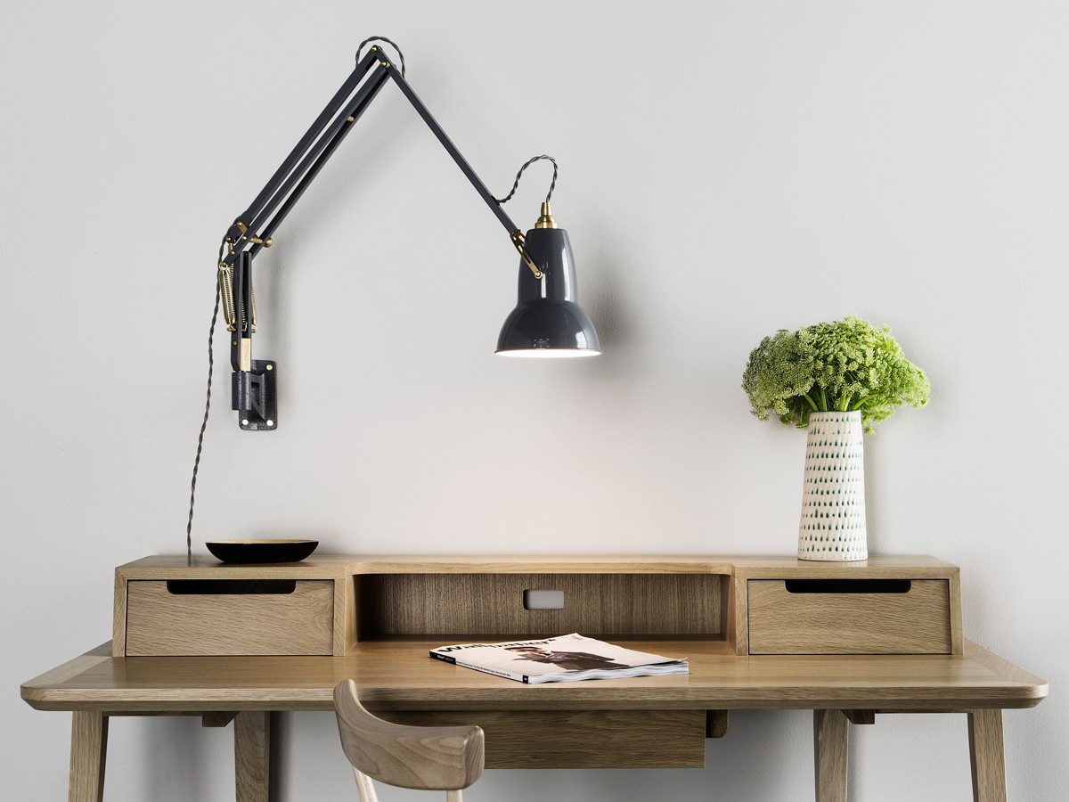 ... Anglepoise Original 1227 Brass Wall Mounted Lamp ...