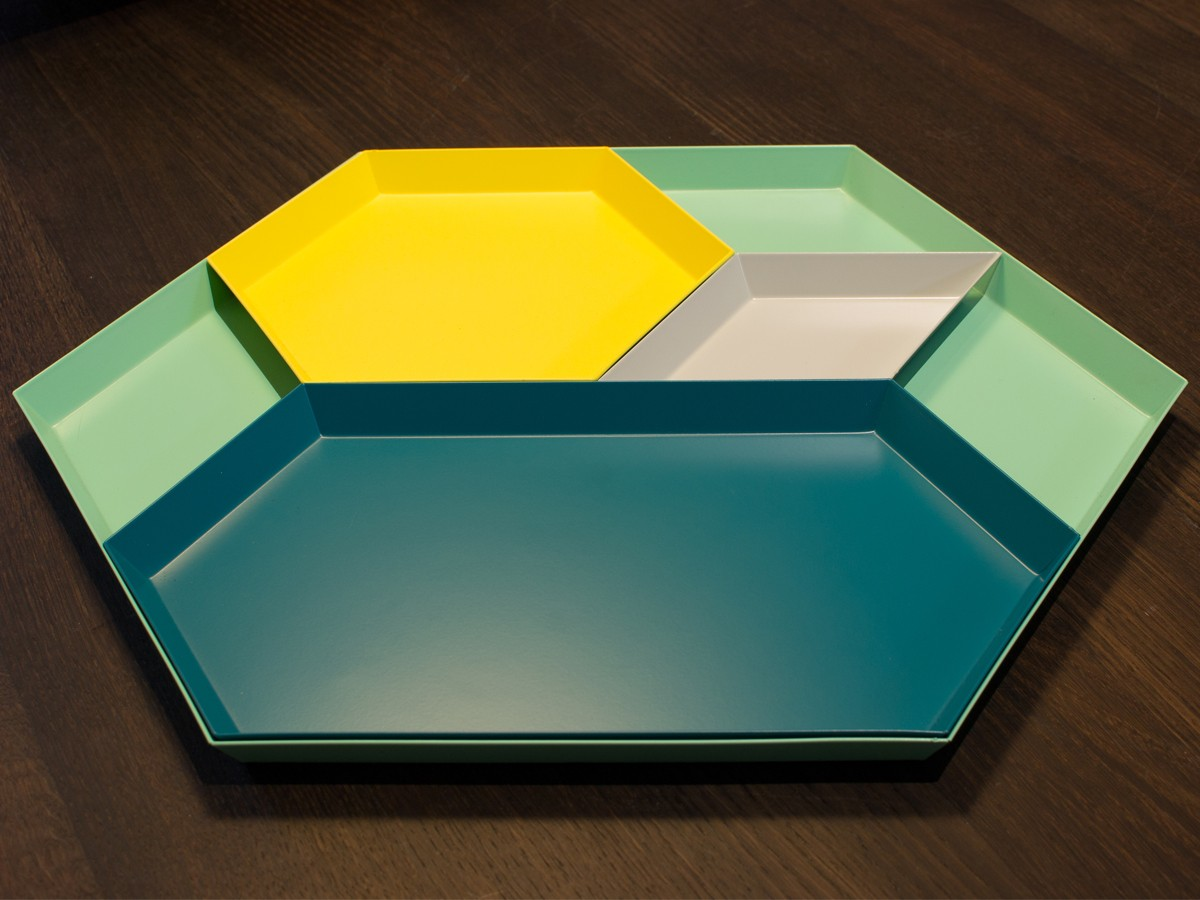 buy the hay kaleido tray yellow at. Black Bedroom Furniture Sets. Home Design Ideas