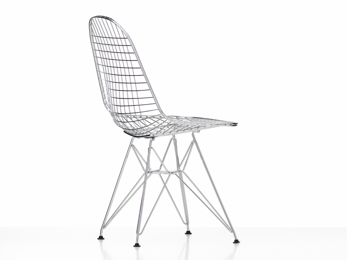 Eames wire chair black -  Vitra Dkr Eames Wire Chair