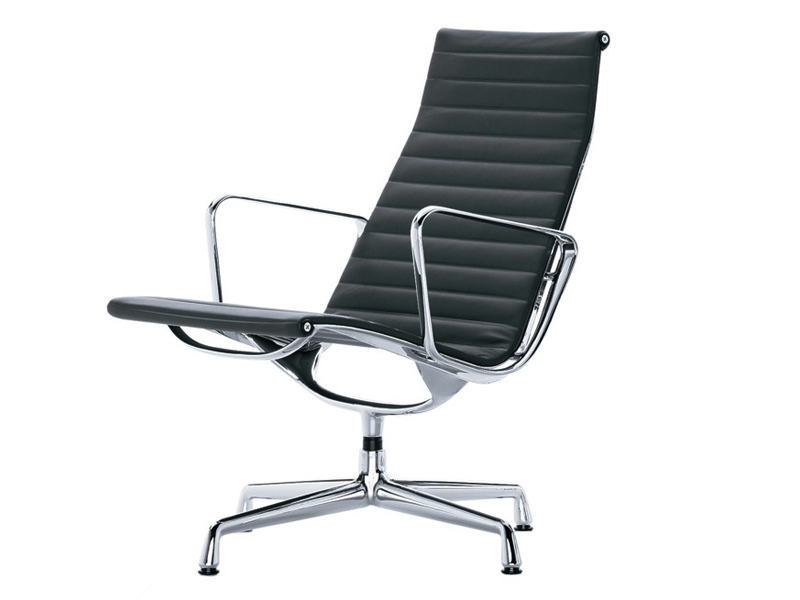 Buy the vitra eames ea 116 aluminium easy chair at for Fauteuil charles eames original prix
