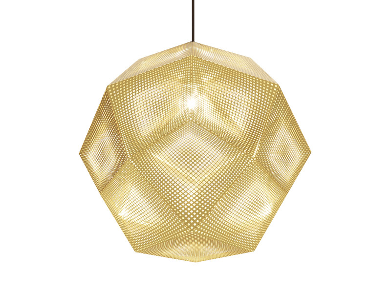 Buy The Tom Dixon Etch Shade 50cm Brass At Nest Co Uk